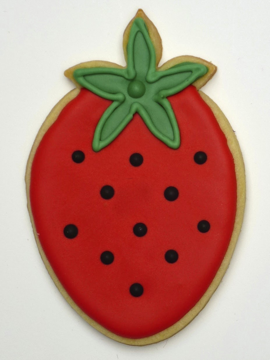 Red Strawberry Cookie by Nina's Show & Tell