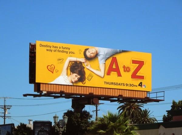 A to Z series premiere billboard
