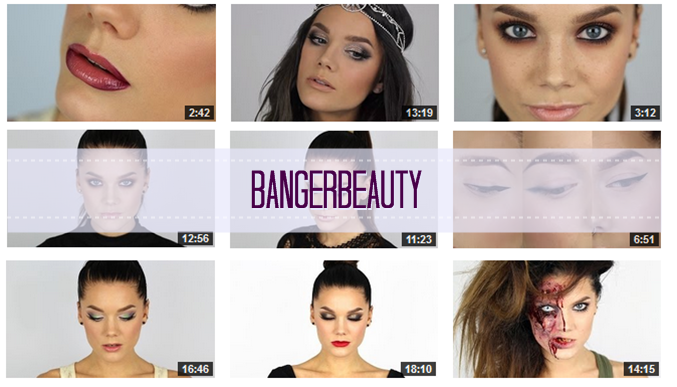 http://www.youtube.com/user/BangerBeauty/videos