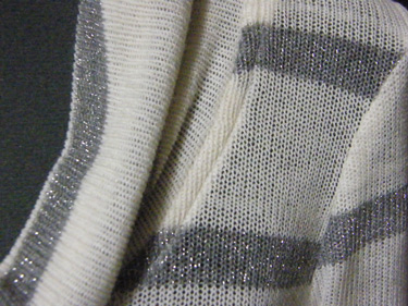 Silver Stripe Renfrew - Neck Detail