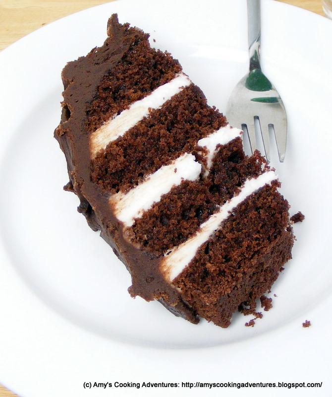 Chocolate Sour Cream Snack Cake Recipe — Dishmaps