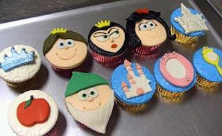 Cupcakes de Blanca Nieves, parte 2
