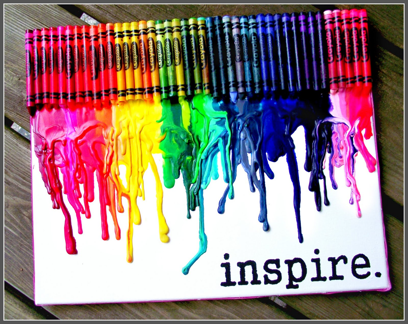tips melted crayon