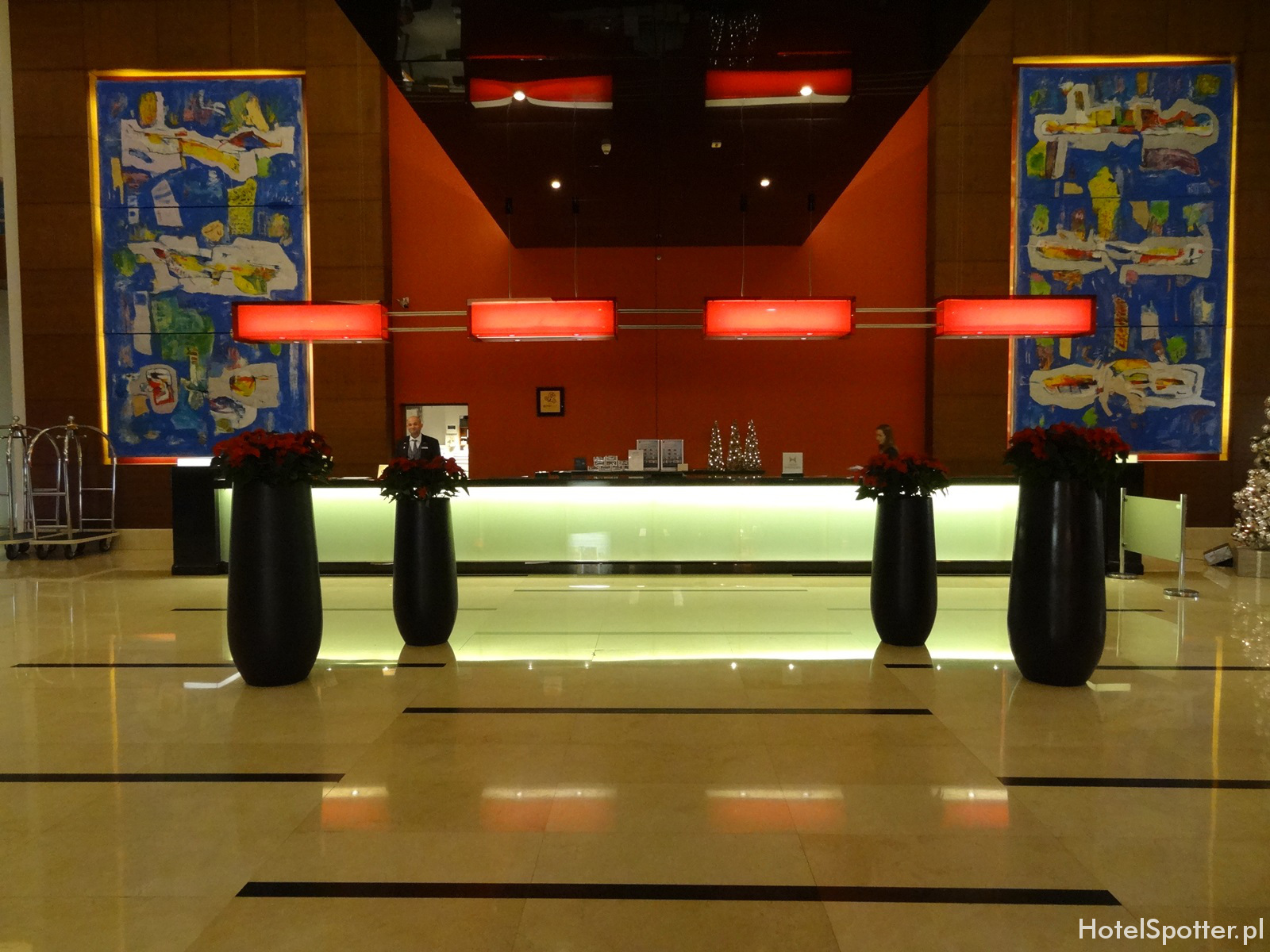 Hilton Warsaw Hotel - lobby recepcja