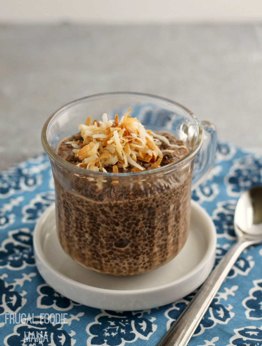 This delicious Coconut Mocha Chia Pudding combines fresh brewed chilled coffee with coconut milk, chia seeds, & cocoa for a delicious treat with a little bonus pick-me-up.