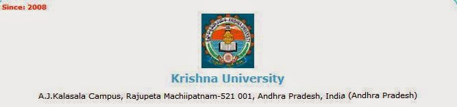 Krishna University PG 3rd Sem Revaluation Result 2014