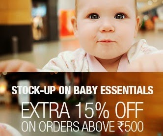Flat 15% Extra Discount on Purchase of Baby Care Products (Johnson & Johnson / Libero) worth Rs.500 or above @ Flipkart