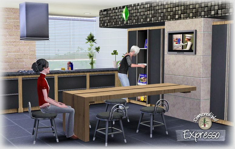 Empire sims 3 expresso kitchen set by simcredible designs for Sims 2 kitchen ideas