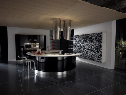 modern house modern elegant black kitchen designs ideas