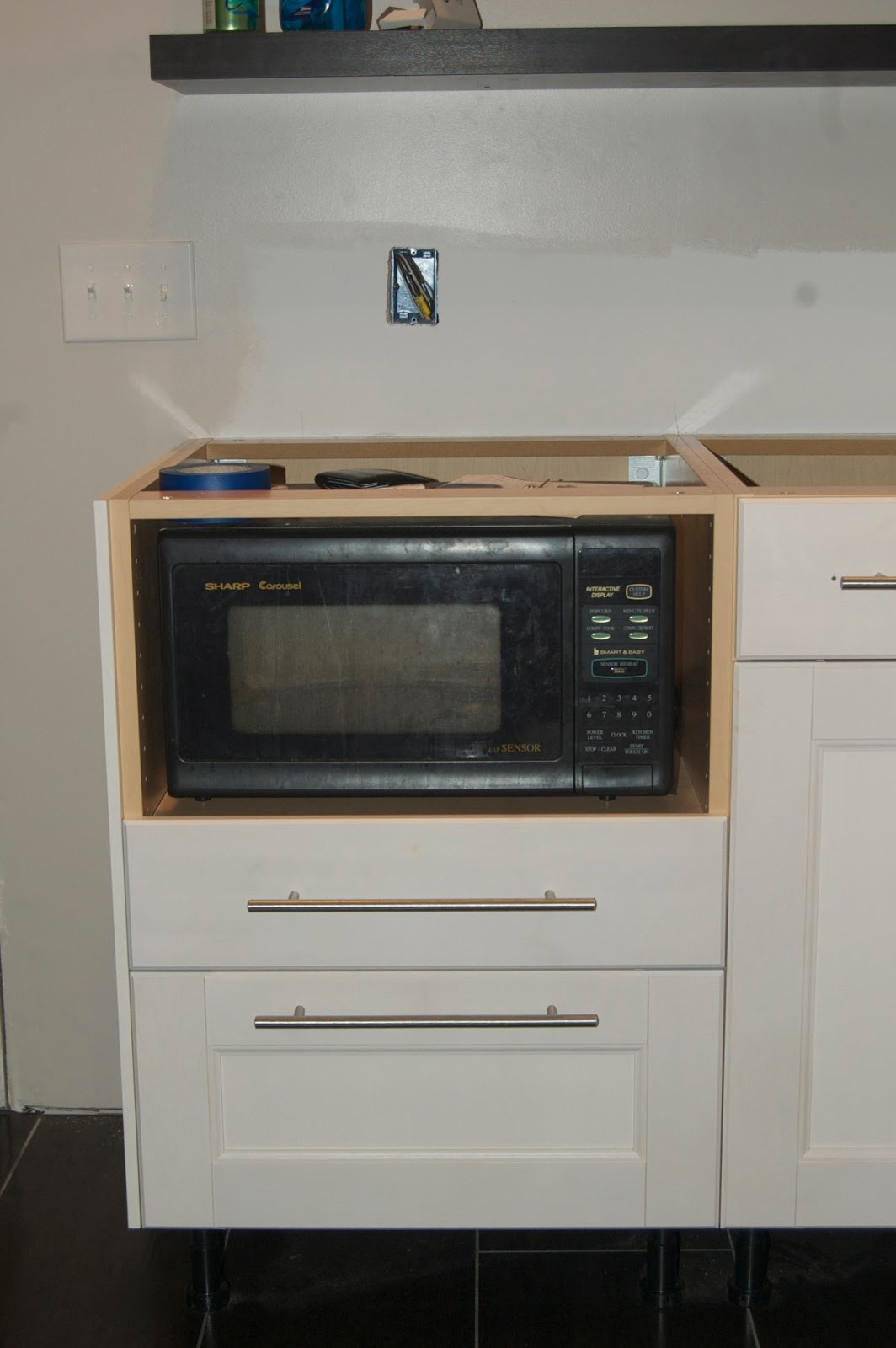 My journey from kitchen dream to kitchen reality progress for Who makes ikea microwaves