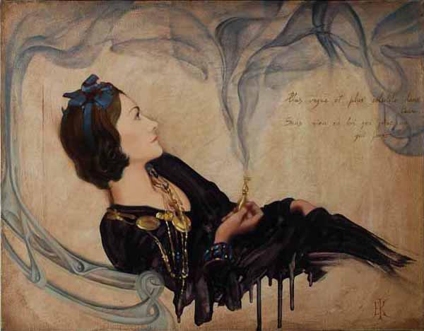 Coco Chanel | Elena Kukanova [Елена Куканова] 1979 - Russian painter
