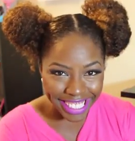 Double Bun Hairstyle Tutorial for Black Hair