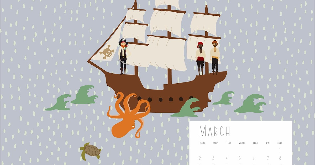 Calendar Wallpaper Love Mae : March calendar arrrrgghh me hearties love mae