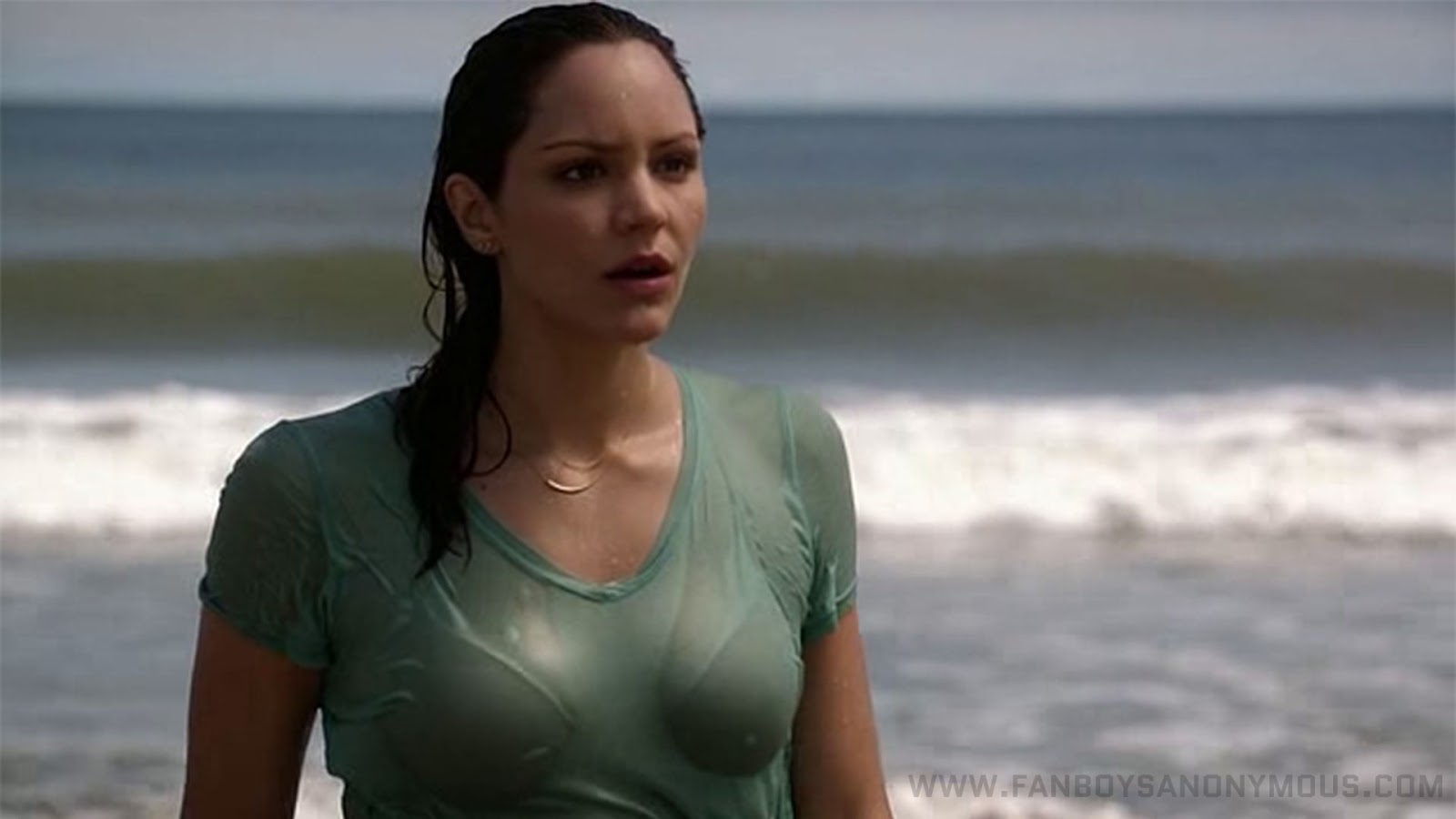 hot Katharine McPhee see through beach