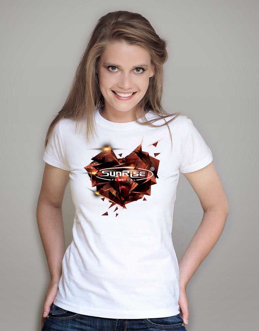 Sunrise - koszulka biała damska