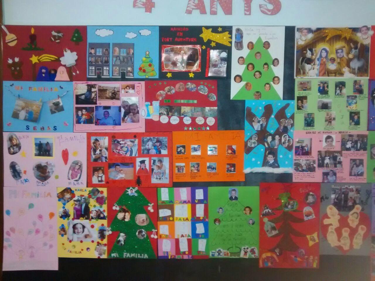 Erase una vez infantil proyecto la familia y la navidad for Mural una familia chicana