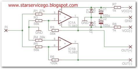 audio amplifier tl082 audio wiring diagram free