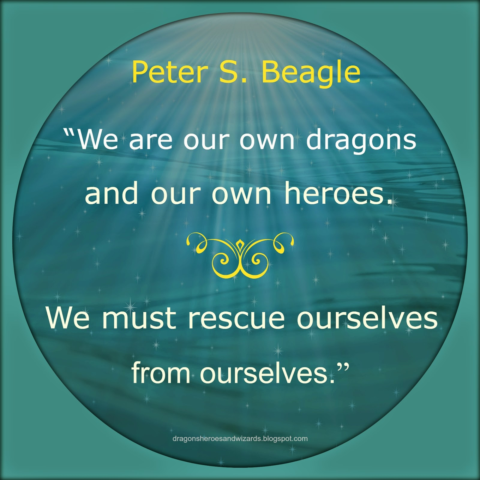 Quote by Peter S. Beagle | Design by Mulluane