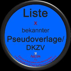 Liste bekannter DKZV/Pseudoverlage