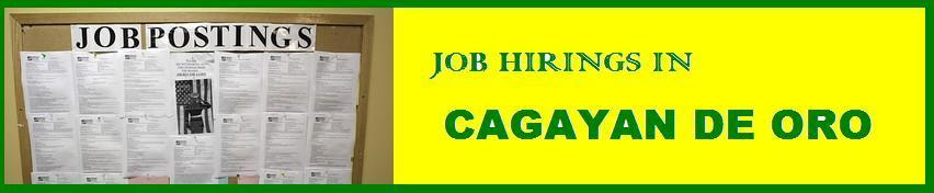 Job Hirings in Cagayan de Oro