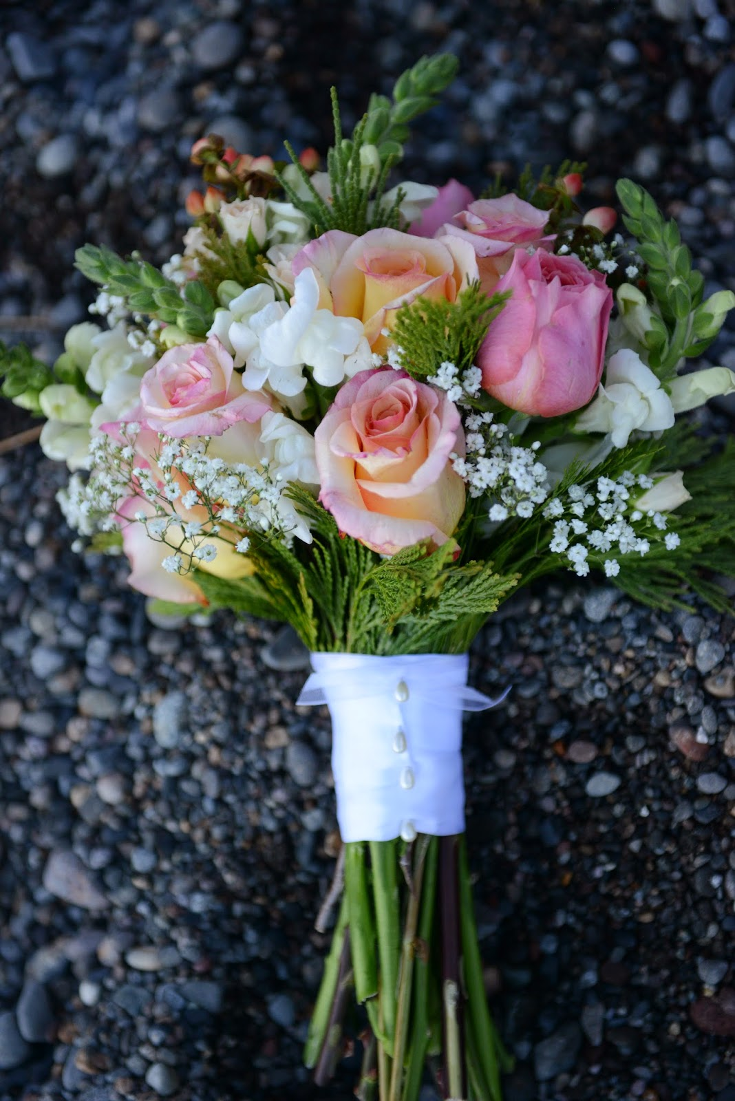 Pastel Pink Bridal Bouquet / Sierra Bridal and Blooms / Take the Cake Events
