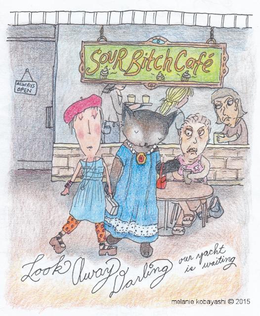 Sour Biatch Cafe by Mel Kobayashi, Bag and a Beret