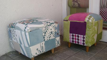 pouf patchwork (telas a eleccion)