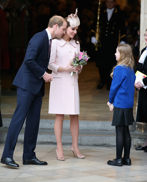 Duchess Kate attends Westminster Abbey Service