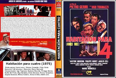 Habitación para cuatro | 1975 | Amici Miei | Dvd Cover | Caratula