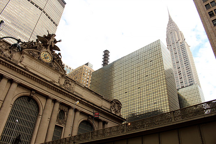 NYC New York Grand Central Station and Chrysler Building