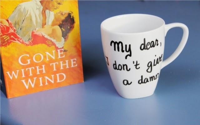 Zitat aus Vom Winde verweht auf DIY Tasse