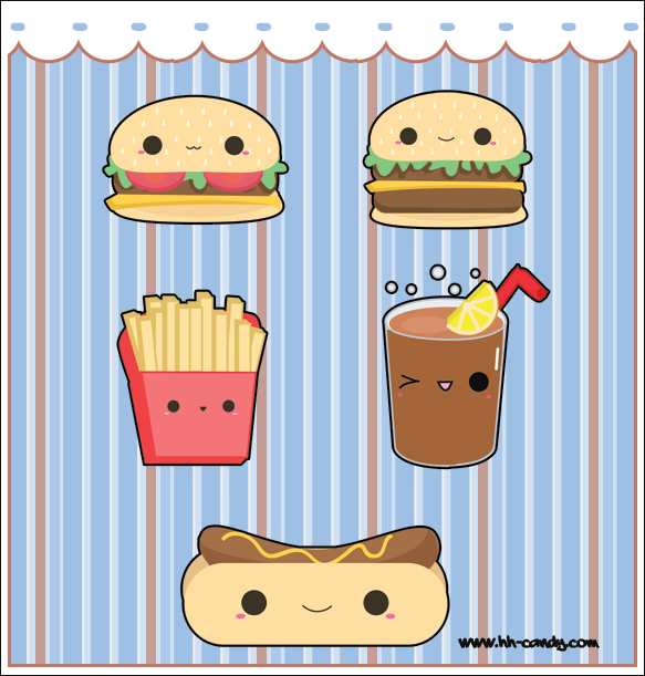 Gallery For gt Cute Junk Food With Faces