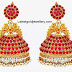 Traditional Ruby Jhumkas