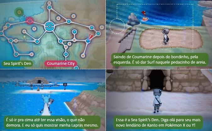 Localização do pássaro lendário em Pokémon XY