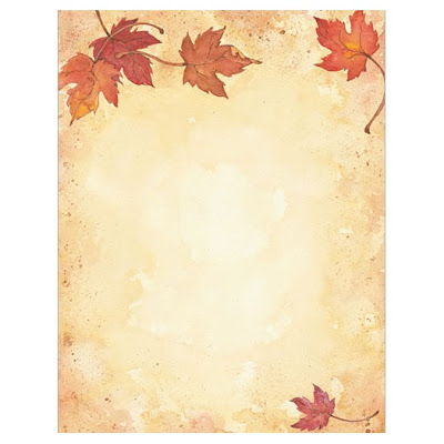 Fall Leaves Autumn Thanksgiving Border Paper