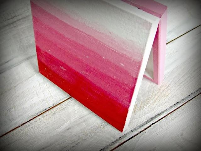 Czerwone pudełko hand made ombre - Eco Manufaktura pracownia decoupage i hand made