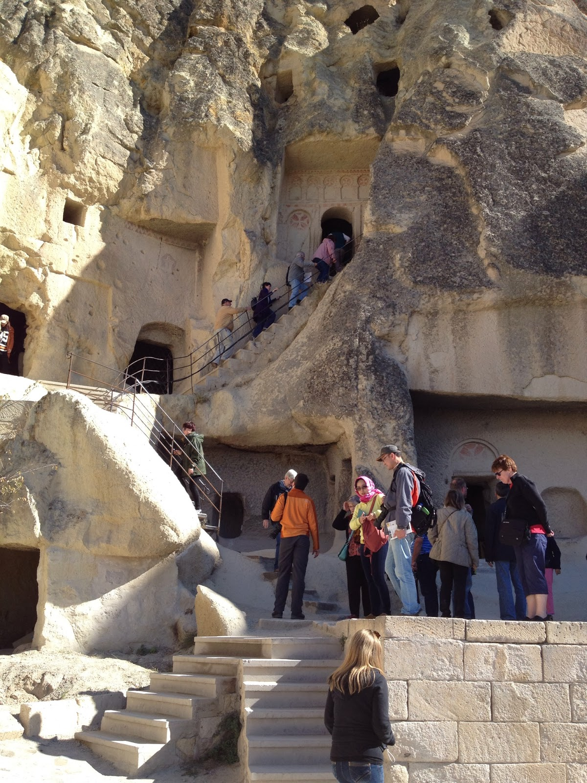 Cappadocia - Some of the churches can only be reached by climbing some narrow stairs