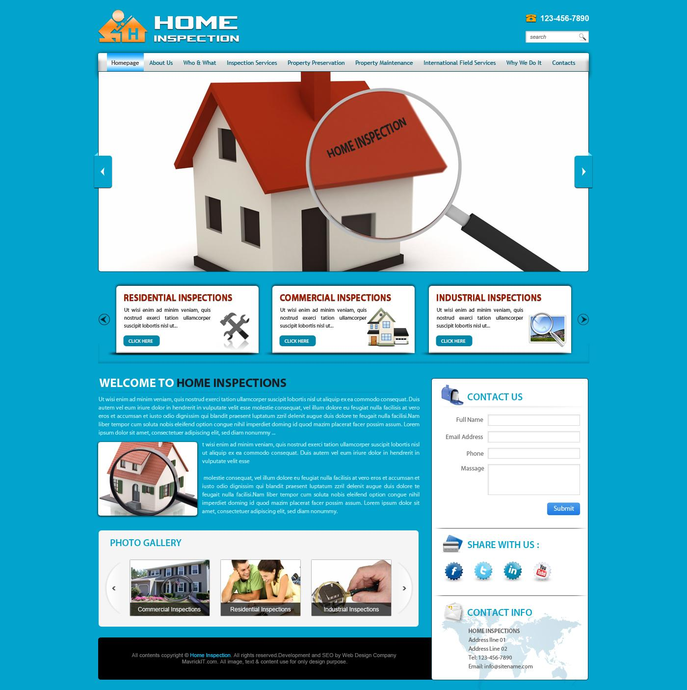 websites for the professional property inspectors