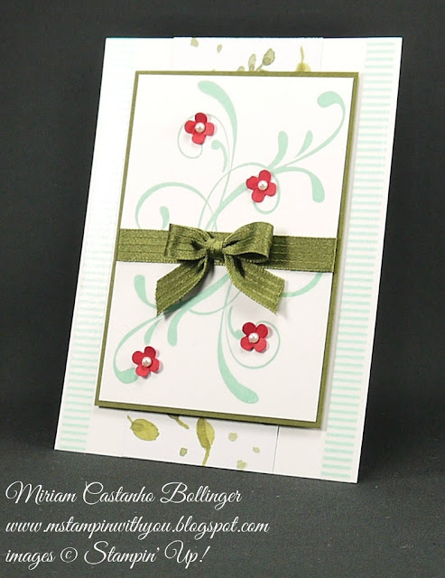 Miriam Castanho Bollinger, #mstampinwithyou, stampin up, demonstrator, dsc, all occasions card, everything eleanor, beach house washi tape, itty bitty accents punch, su