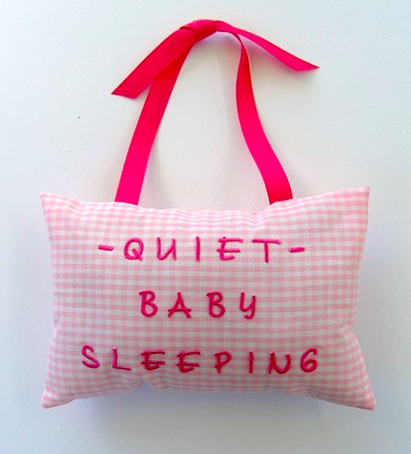 do not disturb baby pillow