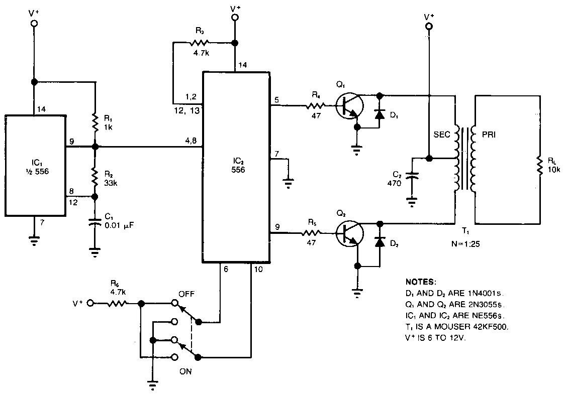 Voltage Inverter Schematic Wiring Diagrams Circuit Diagram 500 Watt Power Build A High Electronic Simple Dc To Ac