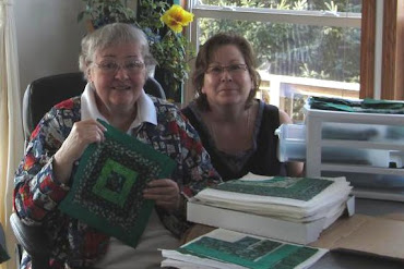 """Mom and Me"" --- Making This Year's Donation Quilt"