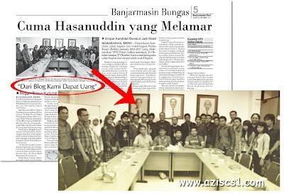Blogger Banua Masuk Koran