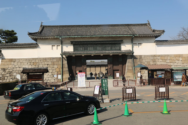 This is the main entrance of Nijo Castle in Kyoto, Japan