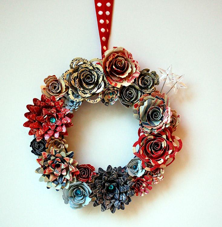 SCRAPS of (my) LifeScrapMartFloral Red White Blue Wreath