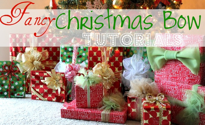 fancy christmas gift wrap bow tutorials - Big Christmas Gifts