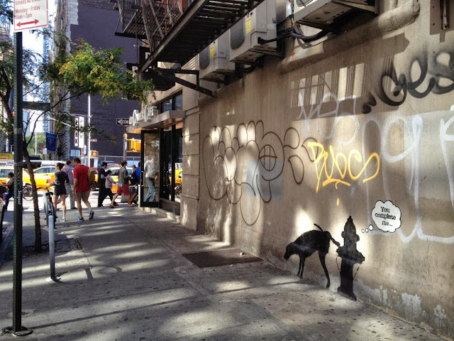 "Street Art By Banksy In New York City For ""Better Out Than In"" - Piece #3 You Complete Me. 2"