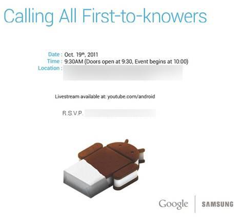 Android Ice Cream Sandwich Einladung