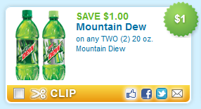 Rare Mountain Dew Coupon