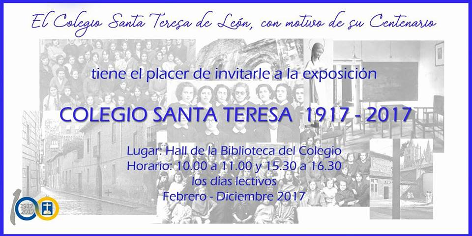 Exposición centenario en León (Colegio Santa Teresa)